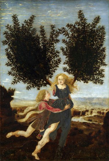 Antonio del Pollaiolo - Apollo and Daphne 1470-80